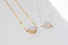 230688 - <NE128-IG20> oval moonstone necklace