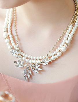 231736 - <NE007-BA11> Esmeralda pearl necklace