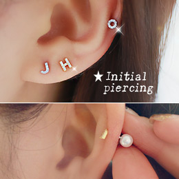 233425 - <SL274-S> [Sell individually] [Silver] cubic initial piercing-S