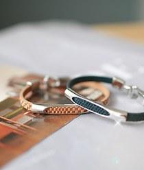 236712 - <BC213_S> Simply leather bracelet