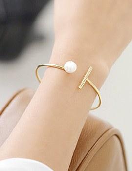 237779 - <BC278-IG11> stick & pearl bracelet