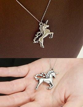 893789 - <NE192-BC11> unicorn long necklace