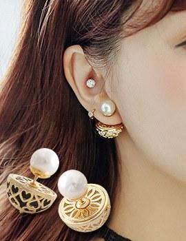 1043880 - <ER854-DA13> Moneta tribale earrings