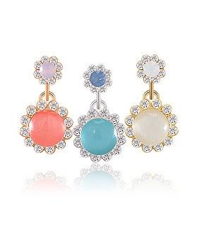 1044272 - <ER970_S> [Silver Post] Swarovski pastel earrings