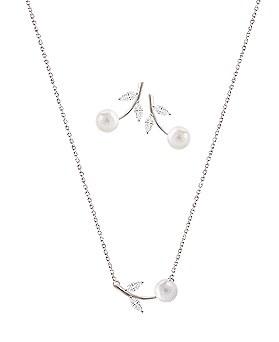 1044529 - <JS204_BD06> [Necklace + earrings] [Silver] emilia set