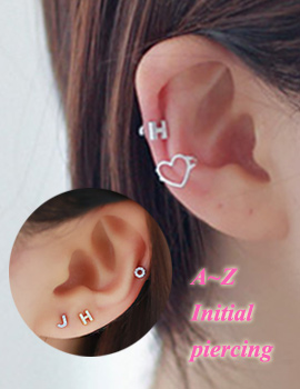236390 - <ER499-S> Matte initial piercing-S
