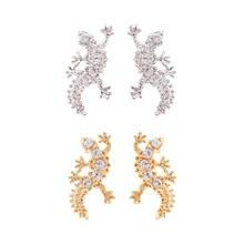 229869 - [SALE] [Silver] Mini cubic lizard earrings