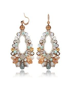 231742 - <ER137-DA18> [Handmade] ★ Silver Post ★ Amber tears earrings