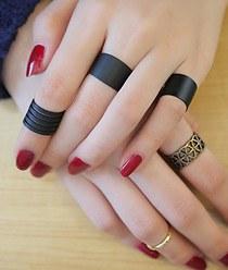 232067 - [SALE] [It's alright, it's love JiHaesu] black sleek bold ring