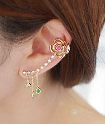 236634 - <EC091-S> [Silver Post] Versailles Ear Curves-S