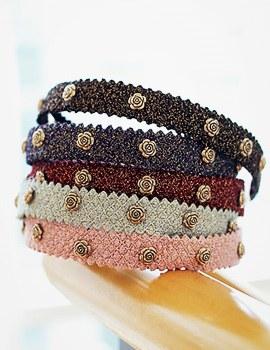 237661 - <HA307-S-h4> Rose point hairband-S