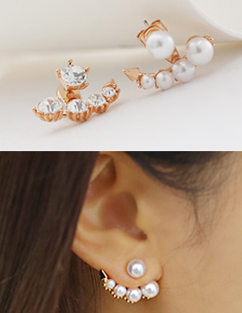238149 - <ER625-GH01/02> [Horn ver.] [Birth of the Beauty] [Silver Post] Sarah two-way earrings