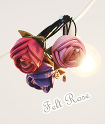 238182 - <HA329-h9> Rose felt ponytail-S