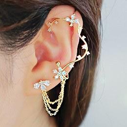 887131 - <EC112-S> [Silver Post] dynasty ear cuff