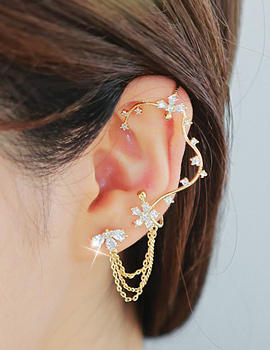 887131 - <EC112-S> [Silver Post] dynasty ear cuff