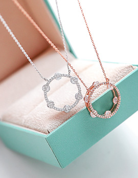 1043614 - <NE231-BB02> Dew bell point necklace