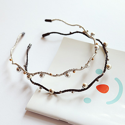 1044134 - <HA430_FF01> Ball & wave point hairband