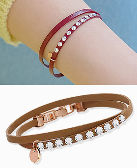 1044439 - <BC526_HD04> Tempered leather bracelet