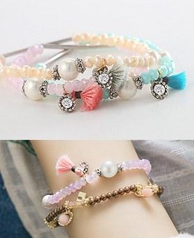 1044501 - <BC538_S> Pearl sangria bracelet