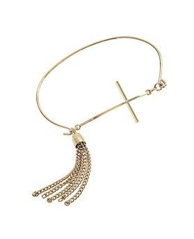 1044958 - <BC634_S> cross tassel bracelet