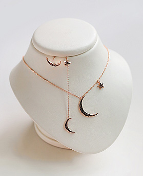 1045252 - <JS238_IF01> [Necklace + earrings] candy moon star set