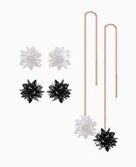 1045554 - <ER1268_GJ30> [Silver Post] Ice crystal earrings