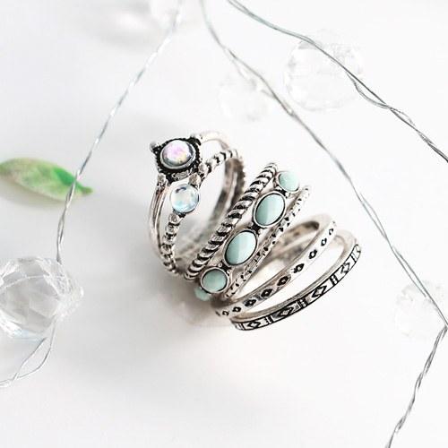 1045807 - <RI719_JC04> [7Piece 1set] belly vintage ring