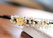 222389 - [SALE] [pin & band] lovely pearl rose Hair Item