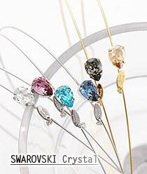237346 - <HA288-FC09> Swarovski crystal tears hairband