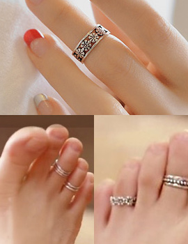 237284 - <RI310-AH11> [It's alright, it's love JiHaesu] [Silver] Haesoo toe ring