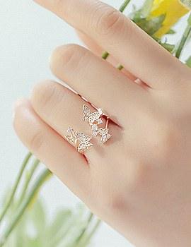 1043565 - <RI446-AH02> Anna butterfly ring