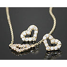 9590 - <K14J026-GH17> [14K Gold] Sofia heart set