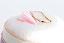 229238 - [14K Gold] round stick ring