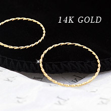 229967 - <K14J018-GH16> [I want to see this SuYeon] [14K Gold] SuYeon slim knuckle ring
