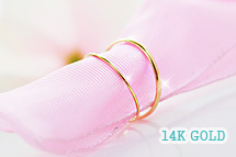 230090 - <K14J019-GH16> [I want to see Lee Soo-yeon] [knuckle recommendation] [14K Gold] skinny knuckle ring