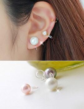 231350 - <PC134-GJ12> [clip type] Swarovski pearl chorus earrings