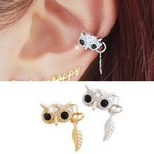 231396 - <EC060-CA22> owl ear cuff
