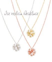 233085 - <JS043-IG18> Ice replica necklace