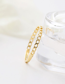 237179 - <K14J037-GH20> [14K Gold] Mini twisted ring
