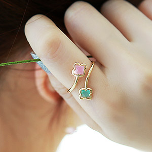 894602 - <RI407-IG13> pastel Flower ring
