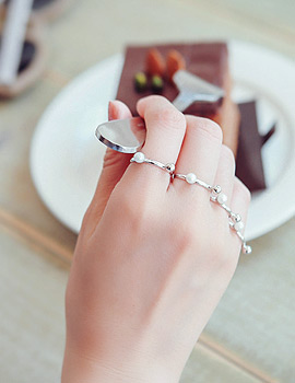 1043412 - <RI429-AD19> [Producers TAKEJIN] [4Piece 1set] Little marble ring