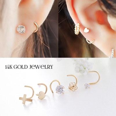 1043758 - <ER820-GJ15> [Unique] [14K Gold] rolling poster earrings