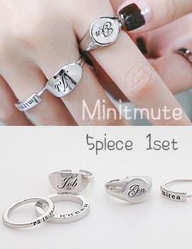 1043798 - <RI481-JA20> [5Piece 1set] Minute mute ring