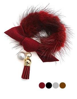 1043934 - <HA423-h8> mink Ann tassel ponytail