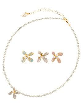 1044142 - <NE286_BC14> Watercolor Flower choker necklace