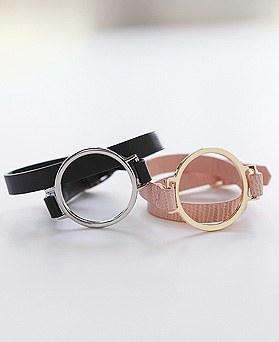 1044505 - <BC541_HH23> Latte leather bracelet