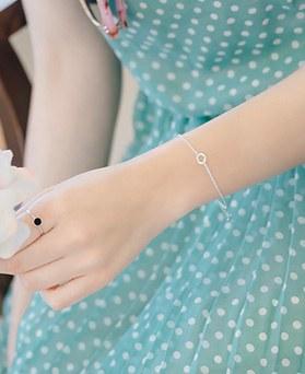 1044558 - <BC553_S> [Silver] mind simple bracelet