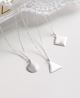 1045032 - <NE360_BE06> [Silver] Figure something necklace