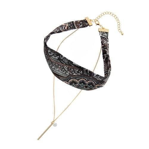 1045191 - <NE374_BA11> Lever scarf choker necklace