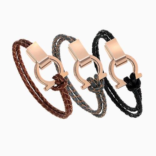 1045456 - <BC646-HD13> [KBS2 secret man supporter] must it leather bracelet